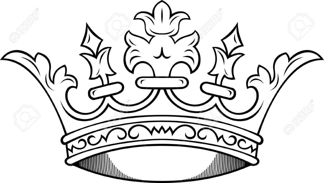 Line Drawing Crown : Simple king crown drawing google search yum