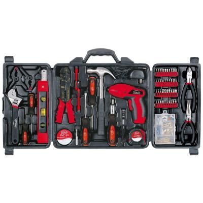 Apollo 161-Piece Household Tool Kit with 4.8-Volt Screwdriver ...