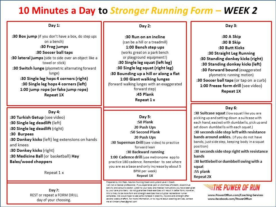 10 mins a day to stronger running form | Fitness | Running