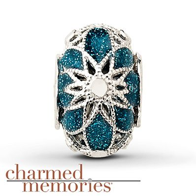 Charmed Memories Turquoise Cathedral Charm Sterling Silver
