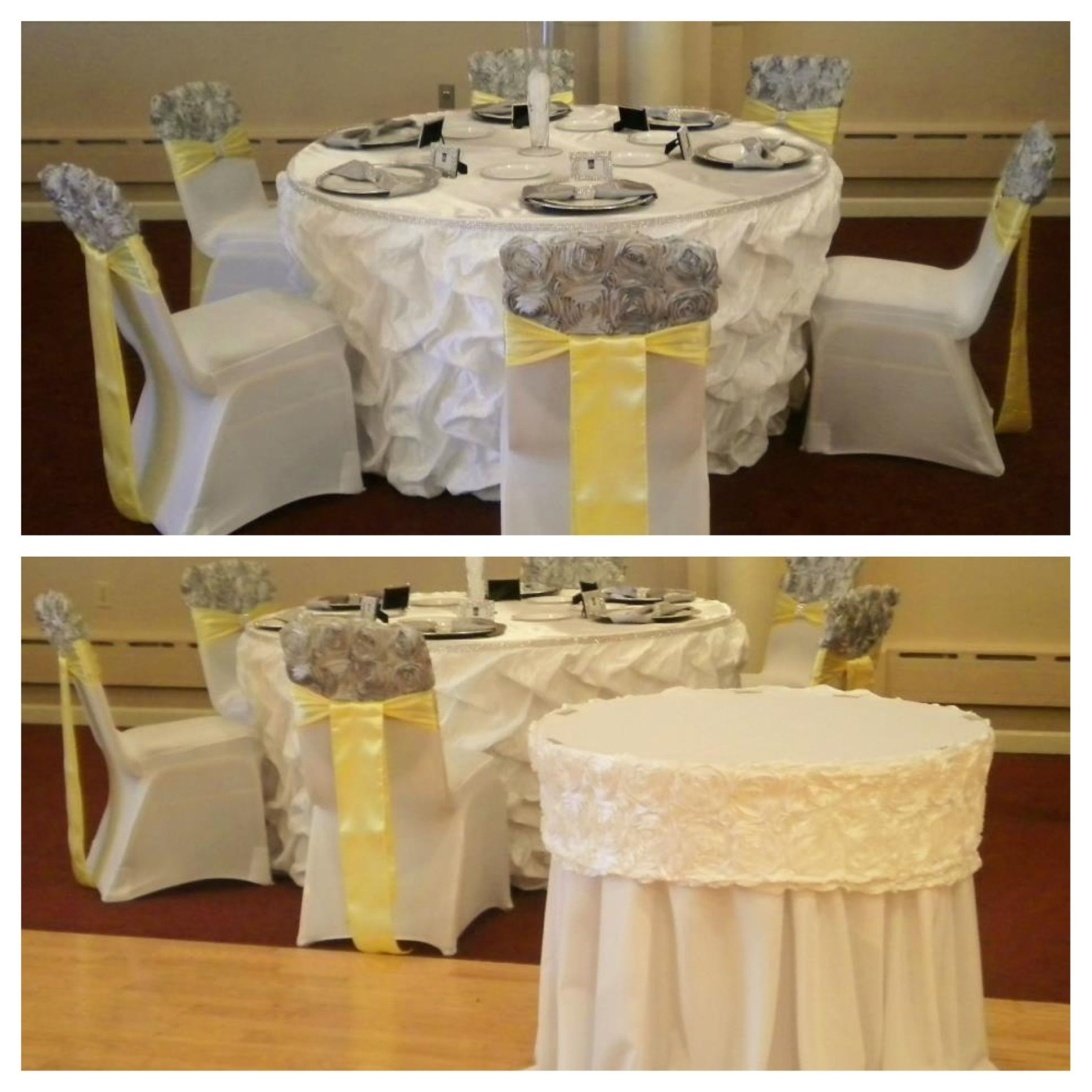 Paper Chair Covers For Weddings Step Stool Plans Couture Table Skirt Rosette Caps Bling