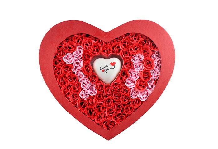Sweetheart 'I Love You' Rose Petals Soap Set, Large