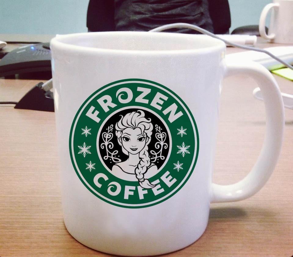 Disney frozen starbucks logo ceramic mug