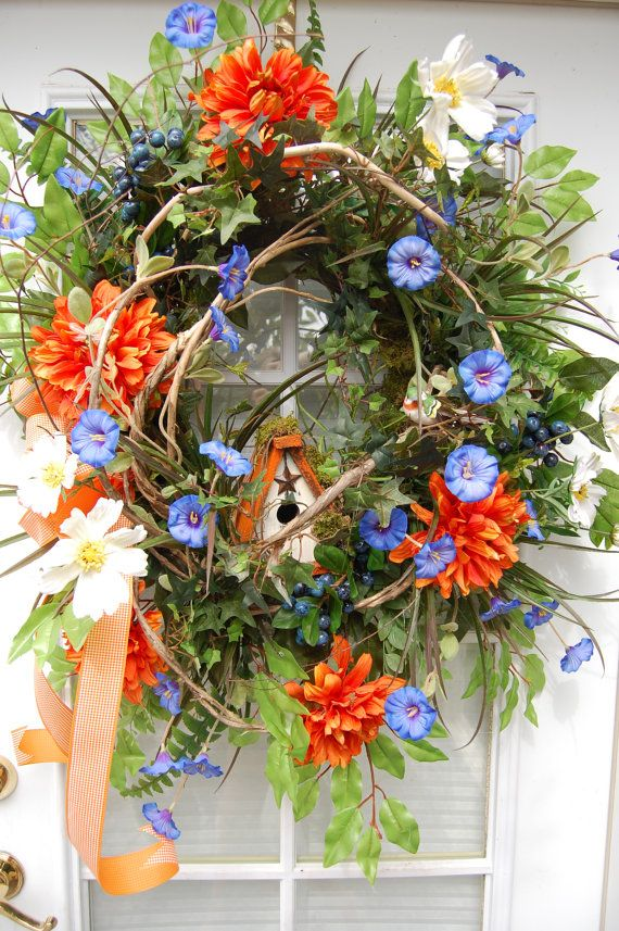Summer Wreath by HangingTouches on Etsy, $169.00