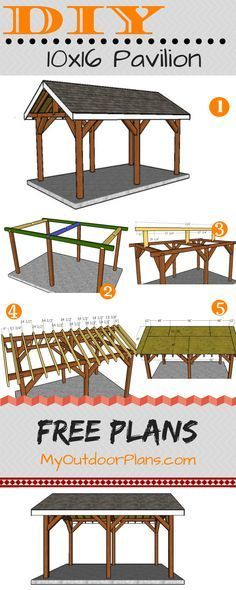 10x16 Pavilion Plans | MyOutdoorPlans | Free Woodworking Plans and Projects, DIY Shed, Wooden Playhouse, Pergola, Bbq