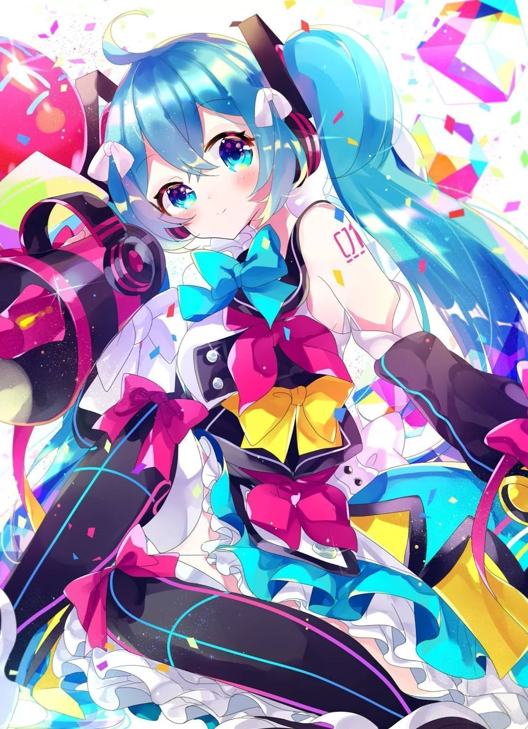 Customized Hatsune Miku はつね ミク Canvas Art Animation