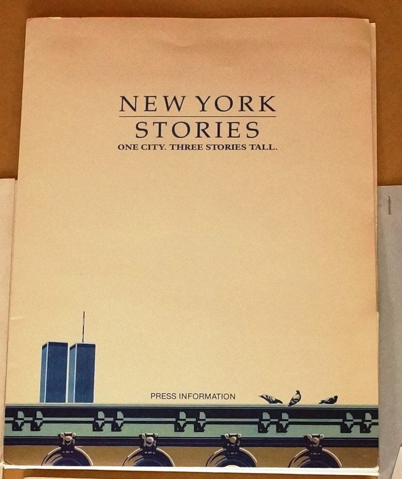 8X10 Resume Paper Alluring New York Stories Movie Press Kit Original 1989 Press Kit  Great 8 X .