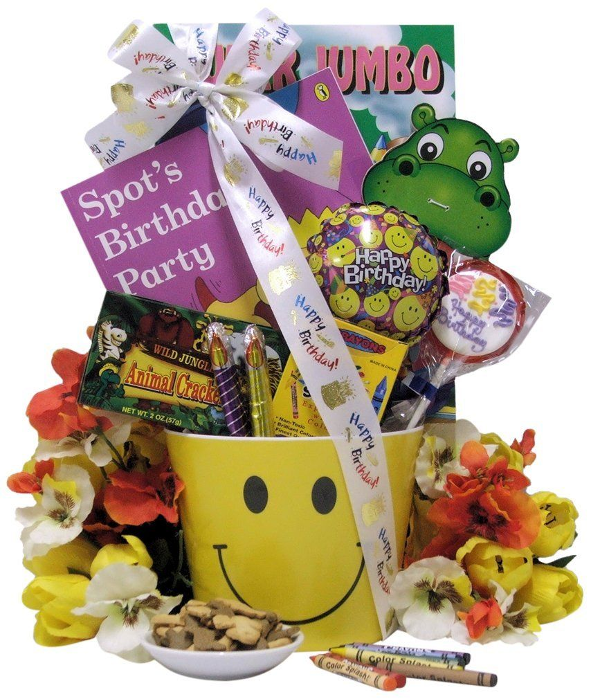 Great Arrivals Kid's Birthday Gift Basket Ages 3 To 5
