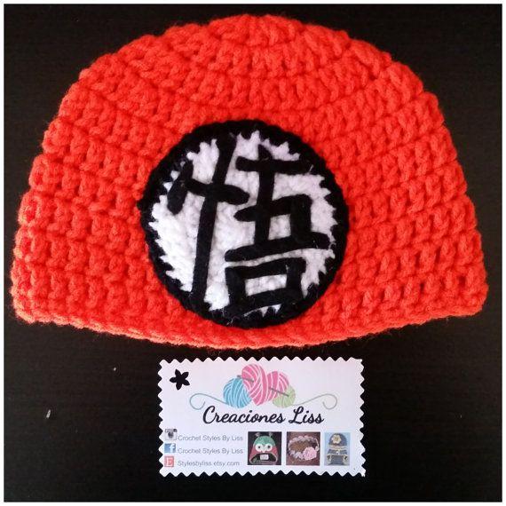 Crochet beanie Dragon Ball Z gorro de Dragón Ball por StylesbyLiss Gorros  Tejidos A Crochet 71b67b6691cc