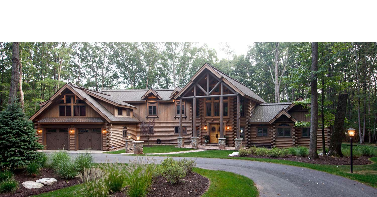 Log mansions new york log homes cedar log cabin homes for New homes in mountain house