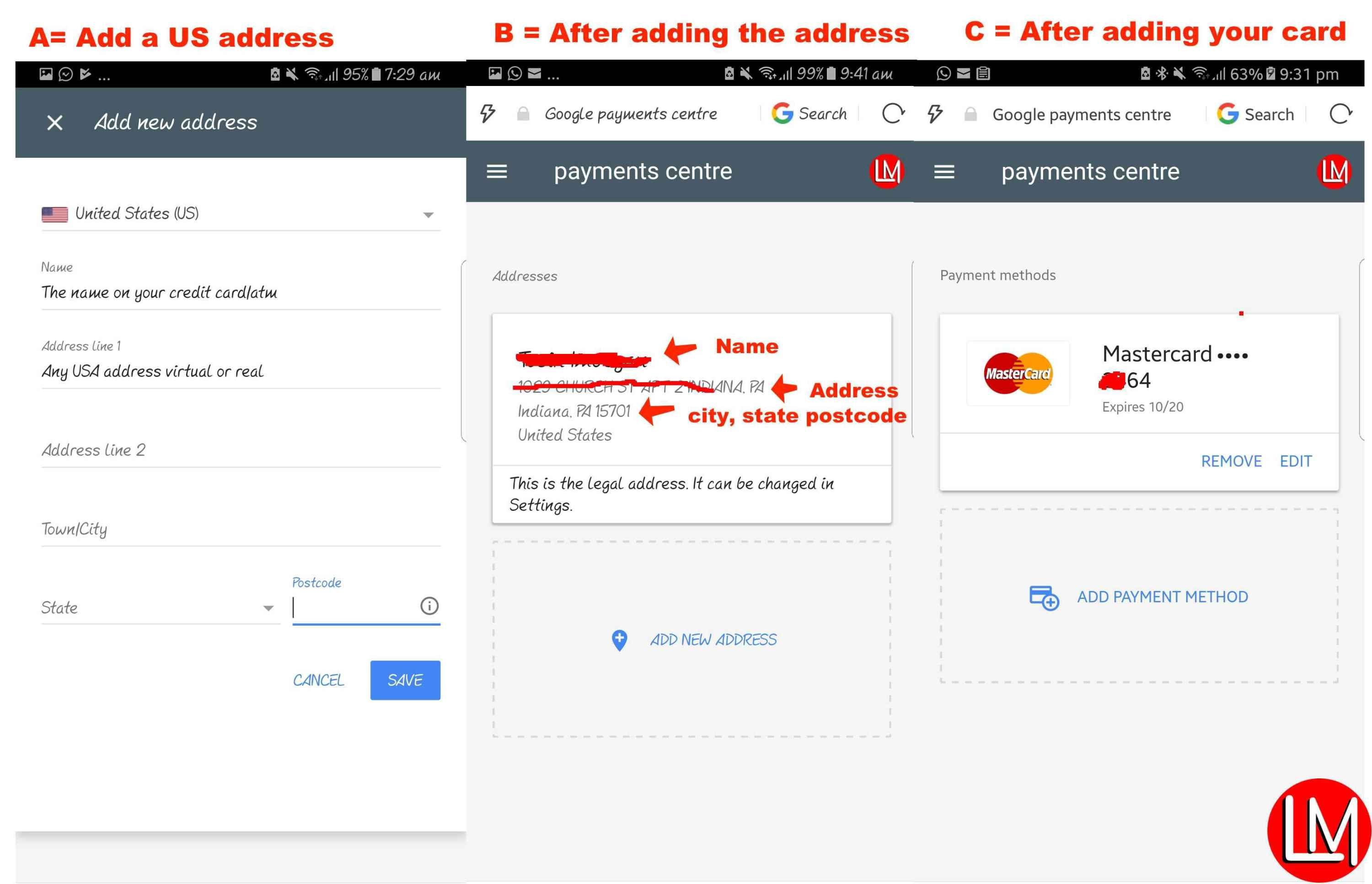 solve Nigeria Play store payment method when trying to add