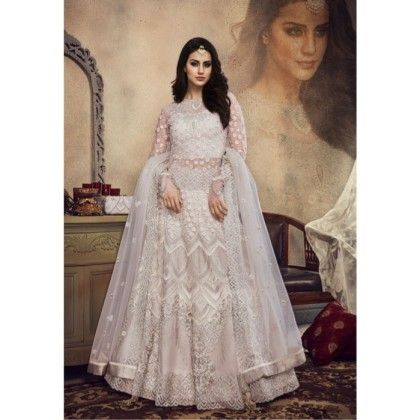 b080ebd27d White Colour Heavy Bridal Wear Lehenga choli