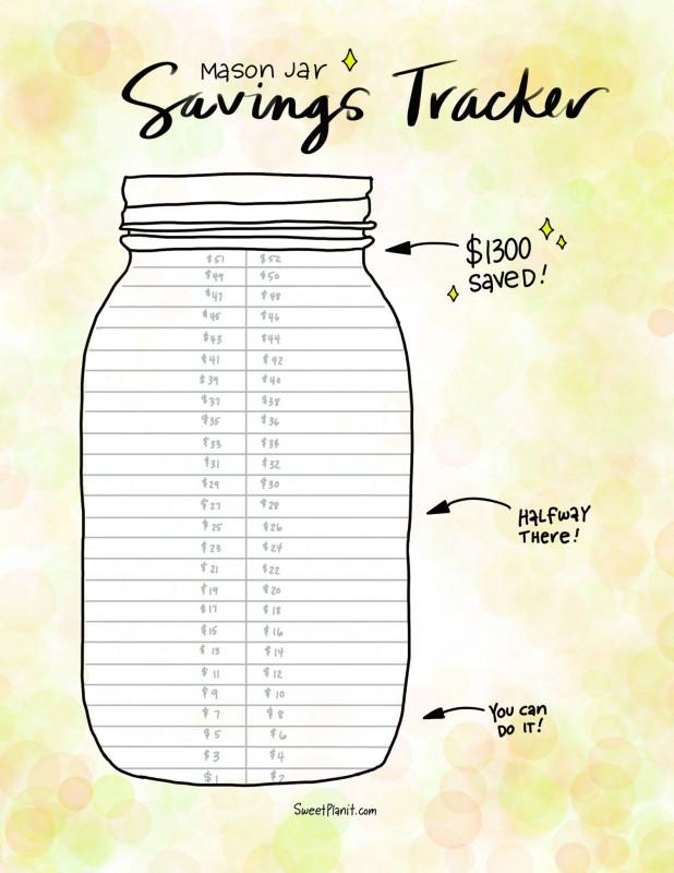 Free Printable Jar Labels Template New Mason Jar Savings Challenge The Easy Way To Save Money In Best Templates Mason Jar Saving Money Jar Saving Money Jars
