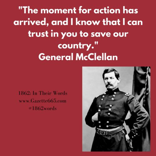 Civil War Quote George Mcclellan 1862words 1862searching 1862 Victory Attends Us Gazette665 Civil War Quotes Words Victorious