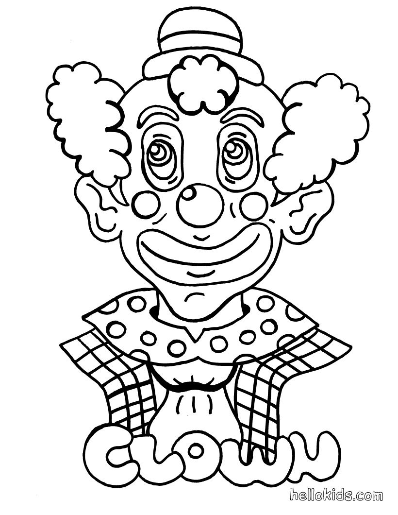 clown coloring page | Circus Coloring Pages | Pinterest | Stencil ...