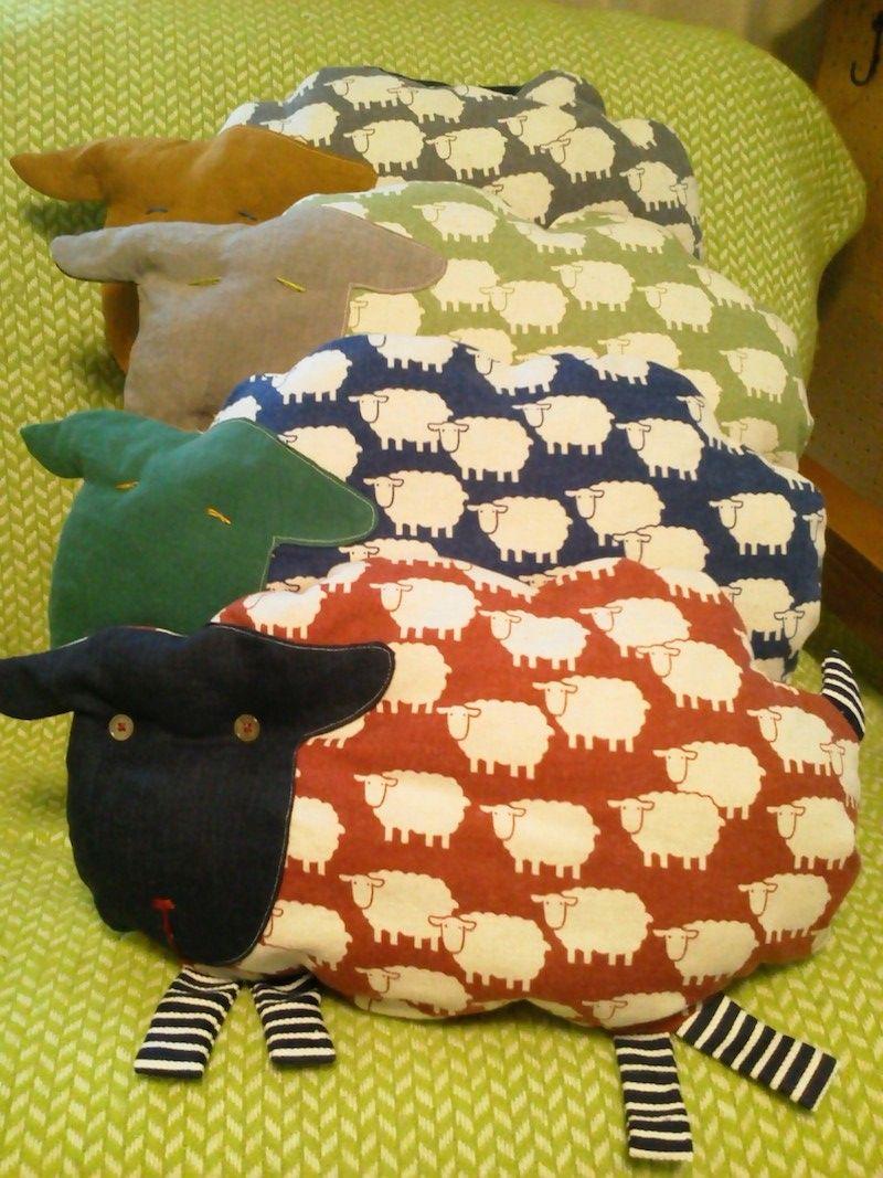 Sheep Shaped Throw Pillow   Animal