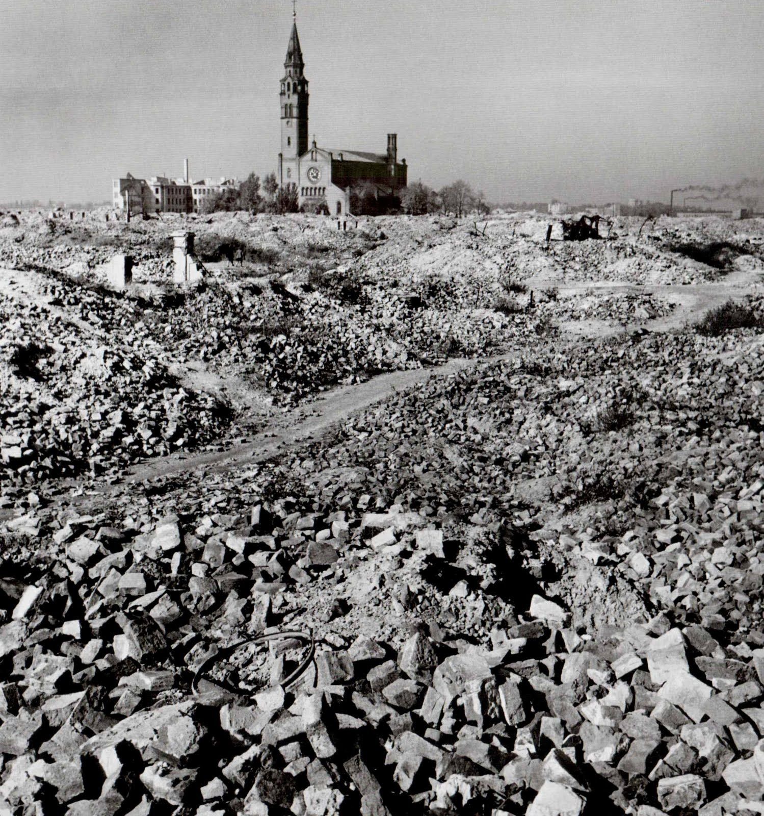 After World War Two Vast Destruction In Warsaw, Poland, Photographed By Robert
