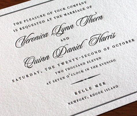 Wedding Invitation Wording Formal Pt 3 letterpress wedding