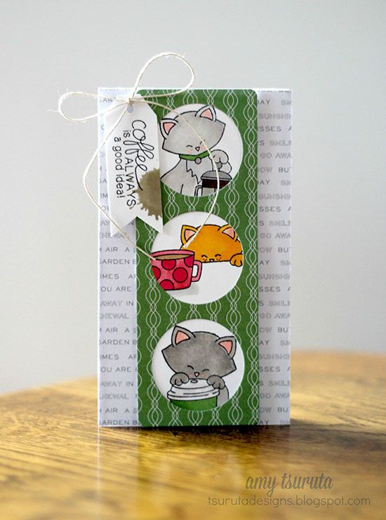 Coffee Card by Amy Tsuruta   Newton Loves Coffee Stamp set by Newton's Nook Designs #newtonsnook #coffee