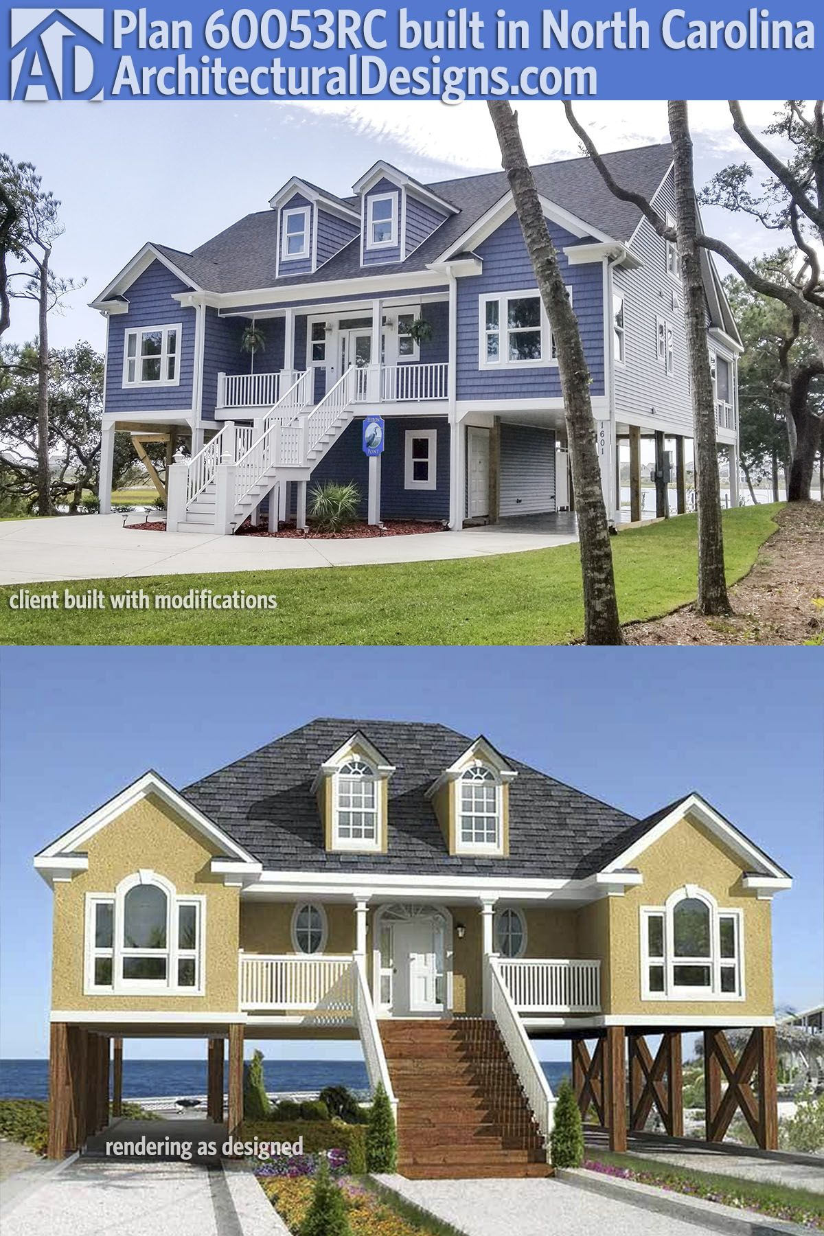 Plan 60053rc Low Country Or Beach Home Plan Porch House Plans Country House Plans French Country House Plans