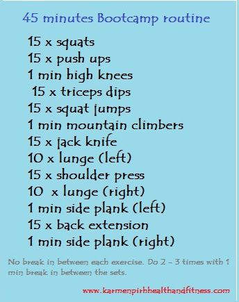 45 min bootcamp  hiit workout at home bootcamp workout