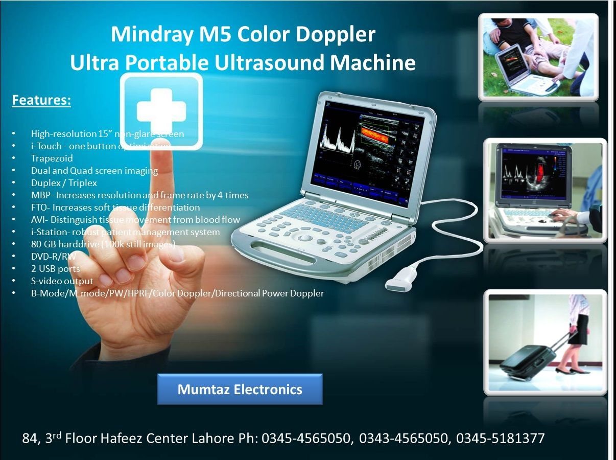 Mindray M5 Portable laptop Ultrasound Doppler in Carry