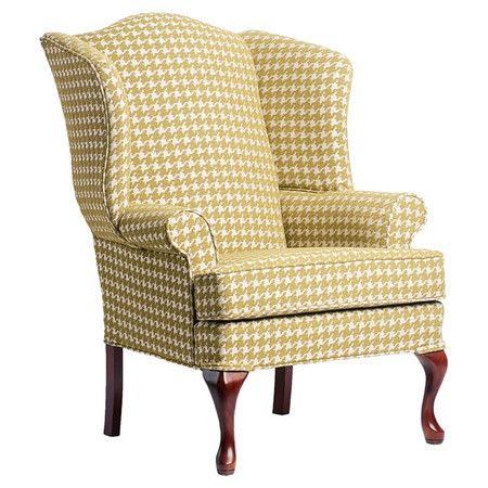 Showcasing A Wood Frame And Houndstooth Upholstery This Classic
