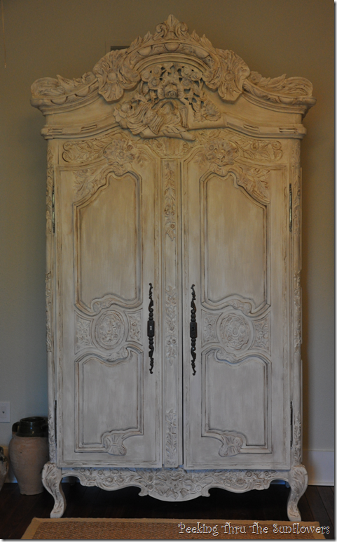 Armoire4 King Thru The Sunflowers Armoire Sister Act Painted White