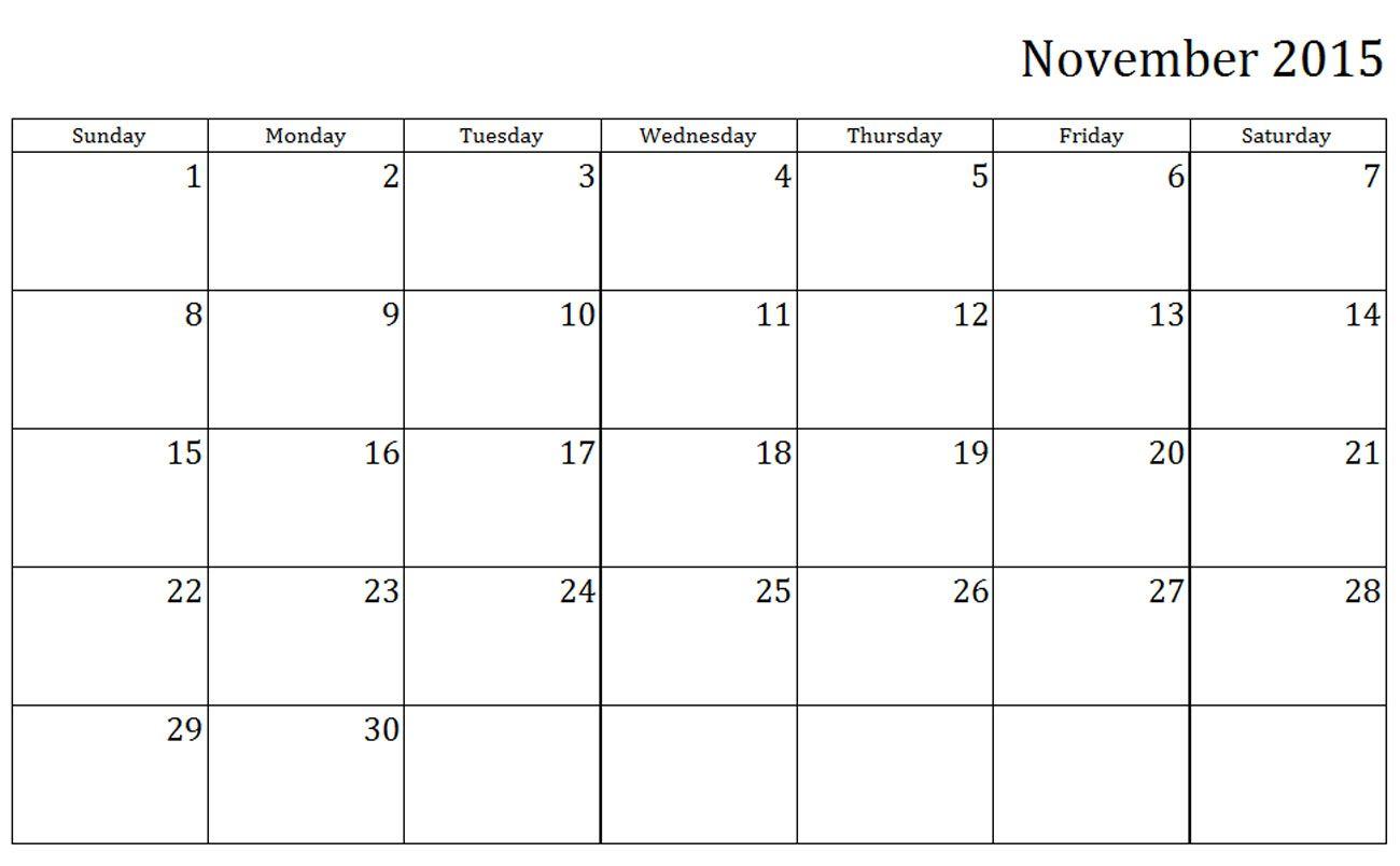 Blank November 2015 Calendar This Calendar Portal Provides You