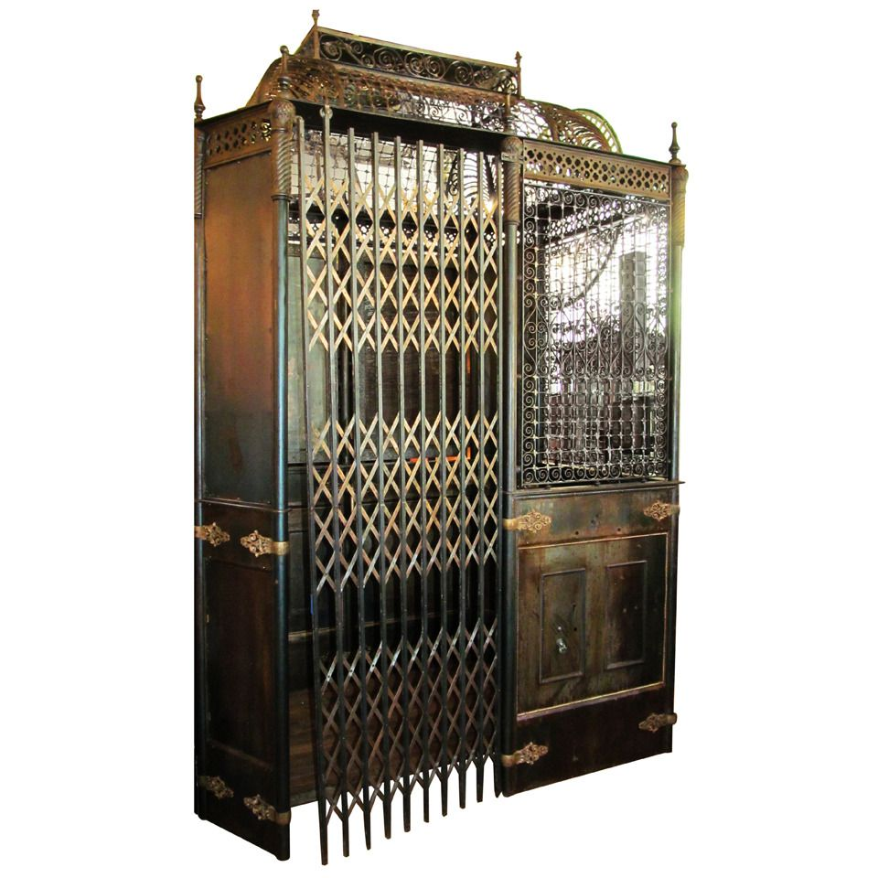 Antique otis birdcage elevator with original hardware for Houses with elevators for sale