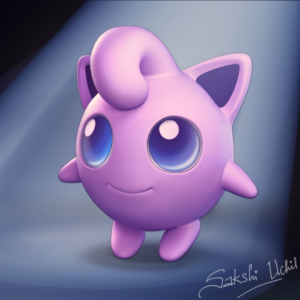 Jigglypuff On Behance Jigglypuff Pokemon Model Cute Wallpaper