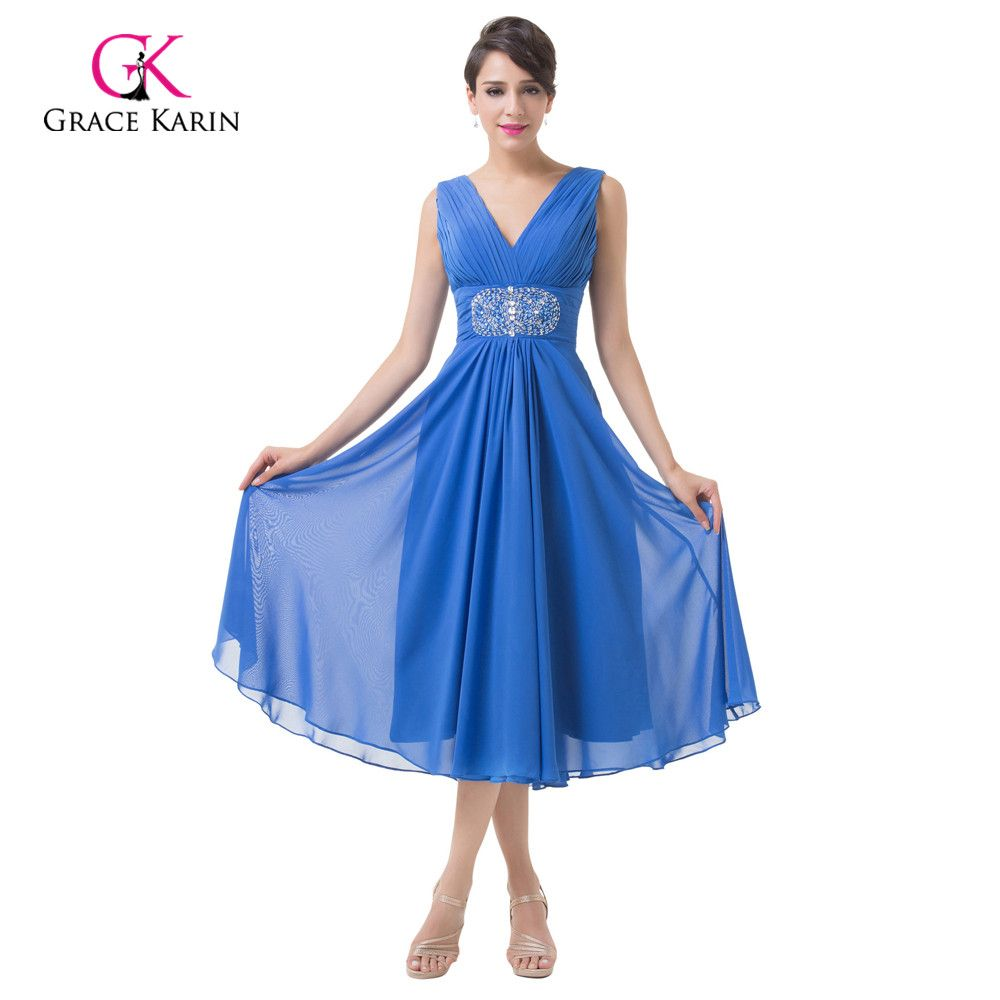 Click to buy ucuc evening dresses grace karin double v neck