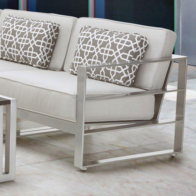 Sunnyland Patio Furniture - Horizons Cushion Sofa by Castelle Pride Family…