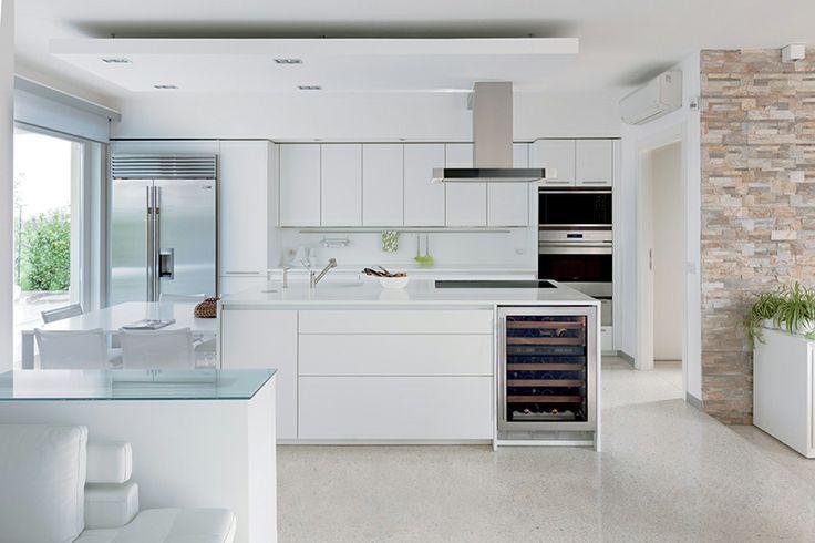 wit kookeiland met wit blad - Google Search Küchen Pinterest - next line küchen