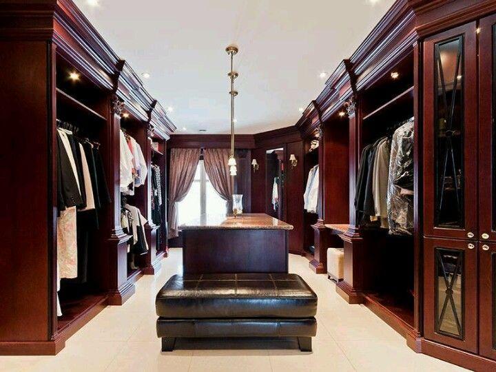 Elegant Mens Closet Design