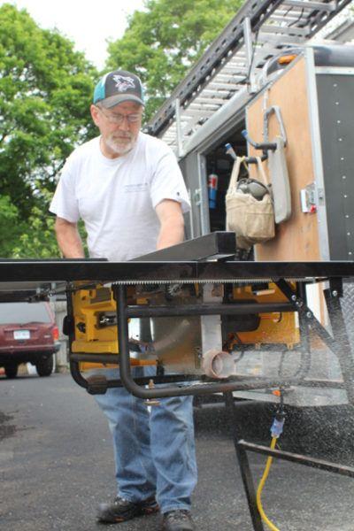 Full scale table saw setup I Quick set up I Tube steel legs w/ locking & Full scale table saw setup I Quick set up I Tube steel legs w ...