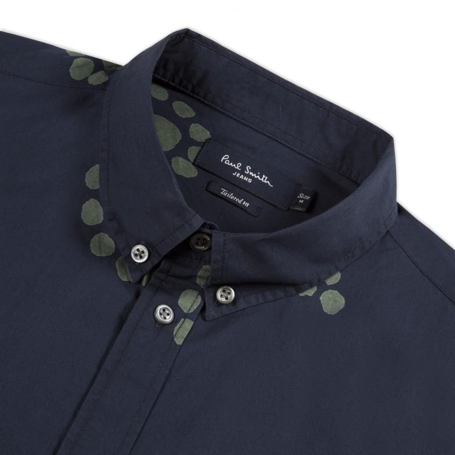Paul Smith Men's Shirts | Navy Large Paisley Print Shirt