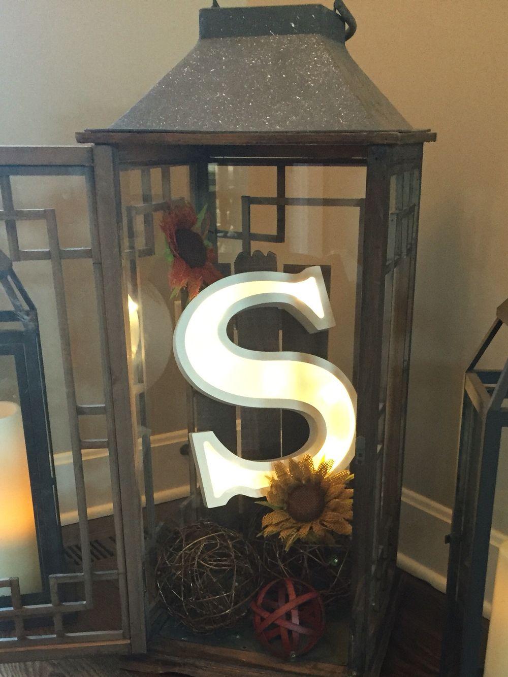 Large Lantern Decor In 2019 Fall Lanterns Lanterns