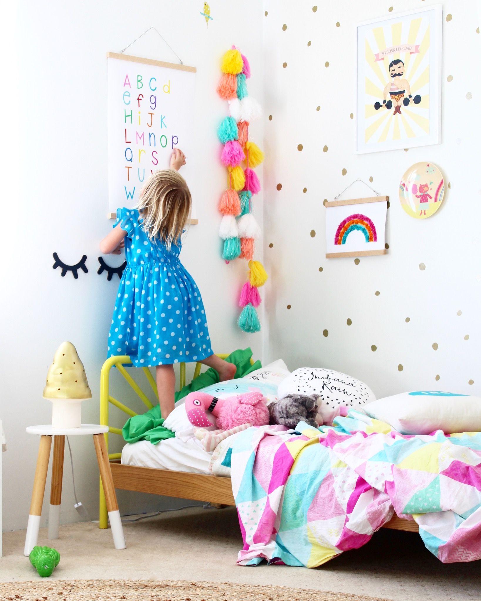 Rainbow Alphabet Chart Toddler Girl Room Kid Room Decor