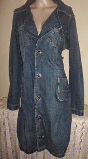 Brecho Online - Belas Roupas: Sobretudo Jeans