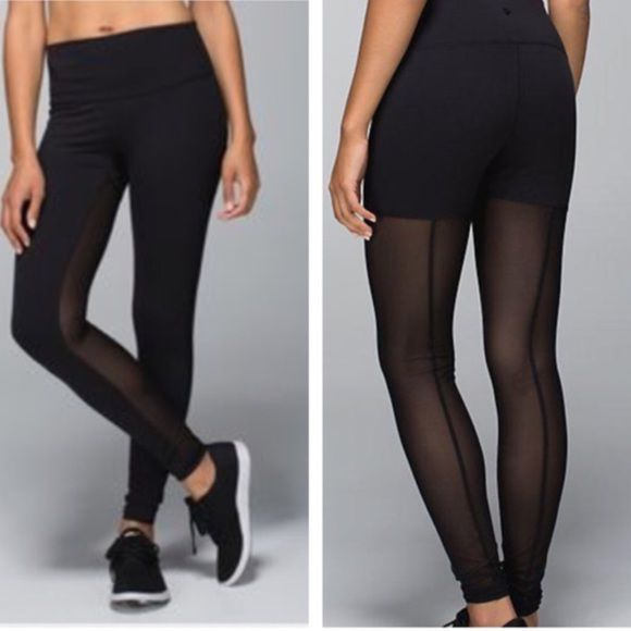 8851c24eb6 Lululemon mesh tights sz 6 Mesh in the front, sides and back. Need a 4/2  willing to trade for these tights only. Cheaper though lululemon athletica  ...