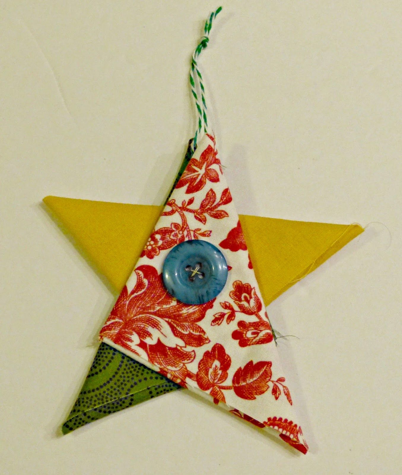 Folded Fabric Christmas Tree: I Learned How To Make These Adorable Folded Star Ornaments