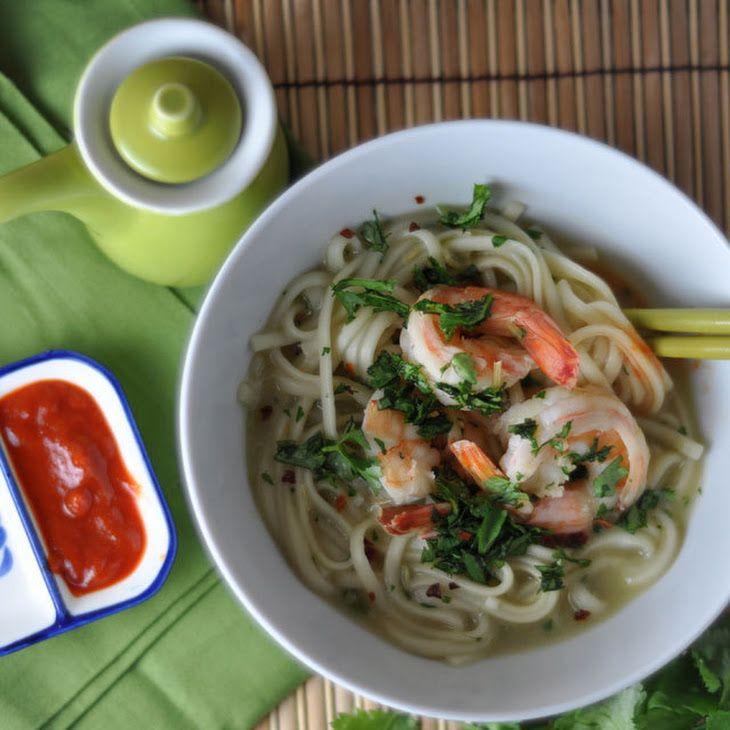 Lemongrass Shrimp and Miso Udon Soup Recipe