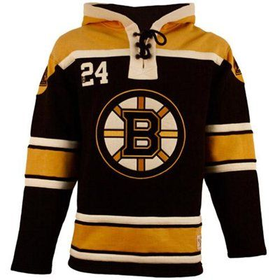 Old Time Hockey Boston Bruins Lace Jersey Team Hoodie Black Gold Hockey Clothes Nhl Apparel Team Hoodies
