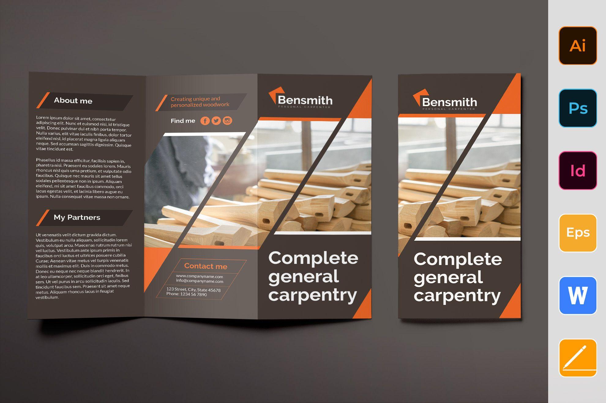 Carpenter Brochure Trifold (432065) Brochures Design