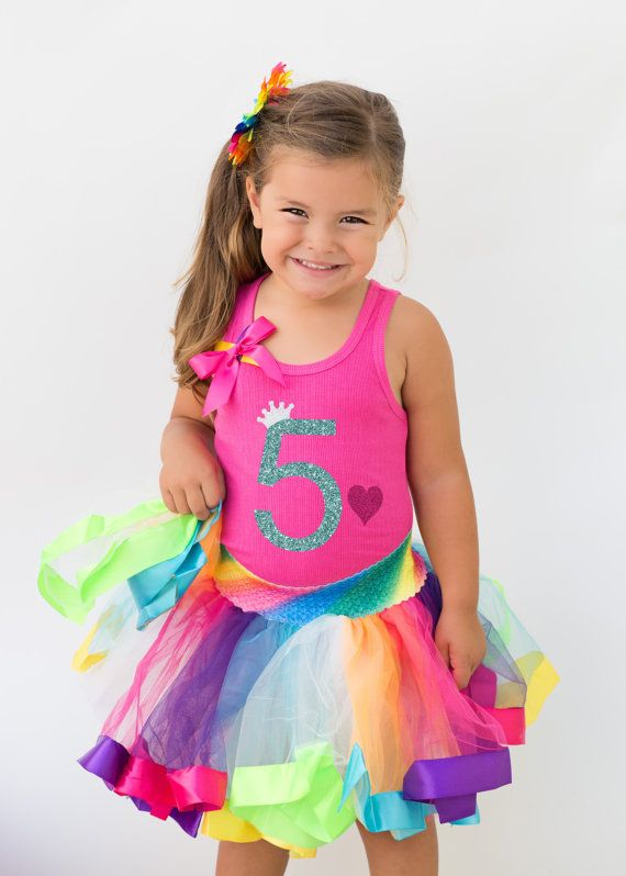 Rainbow Birthday Party for your little princess who is turning 5