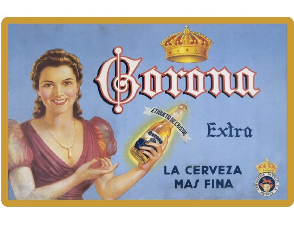 Details About New Vintage Image Corona Beer Girl Advertising Refrigerator Tool Box Magnet Beer Advertising Beer Ad Beer Commercials