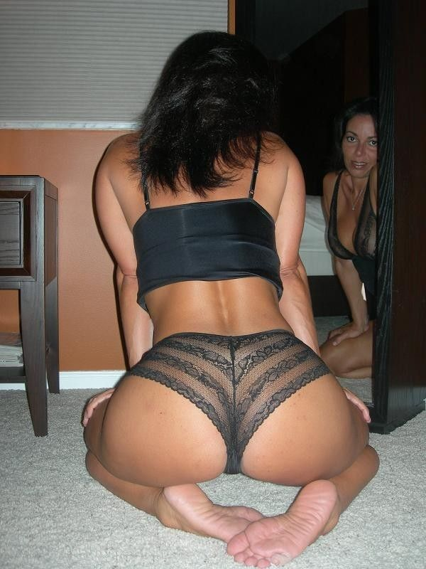 Milf ass in pink thong and  lingerie