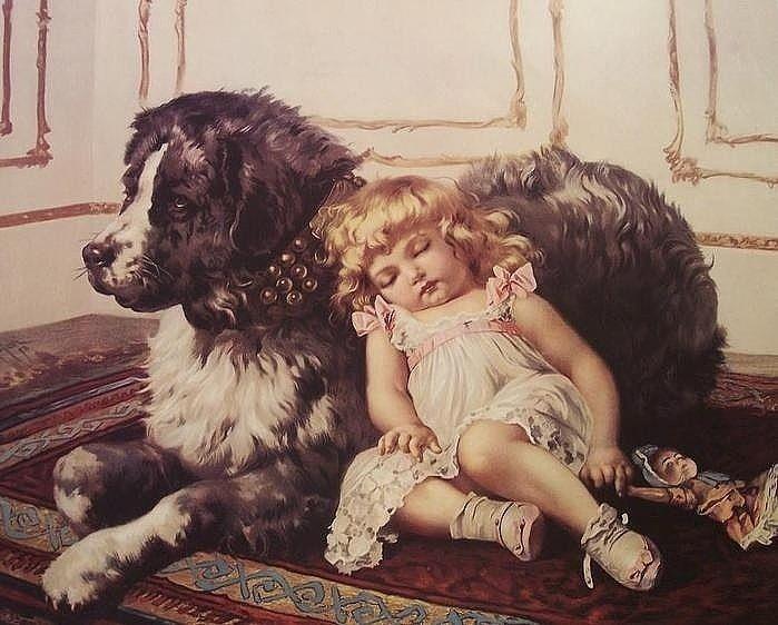 старинные картинки собак