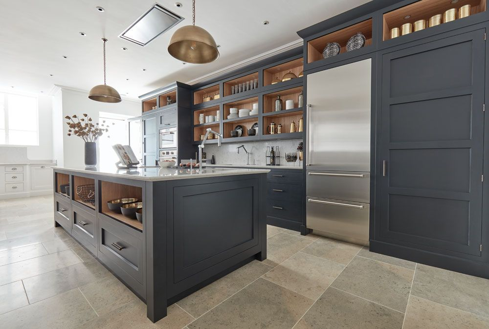 Best Dark Grey Shaker Style Kitchen In 2019 Kitchen Styling 640 x 480